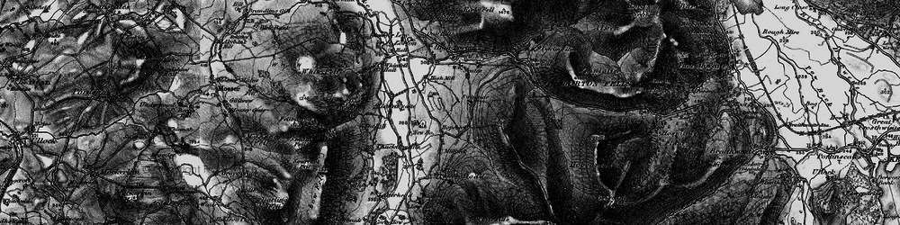 Old map of Whinlatter Pass in 1897