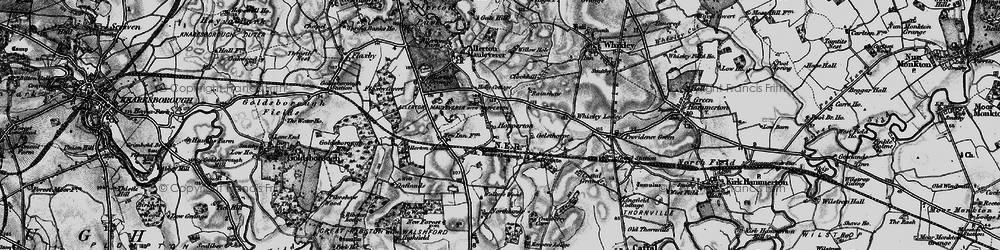 Old map of Whixley Lodge in 1898