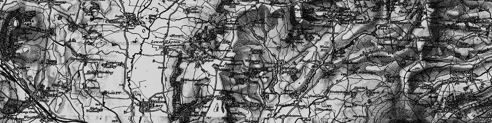 Old map of Witchcot in 1899