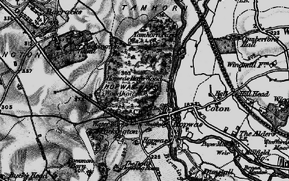 Old map of Hopwas in 1899