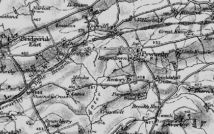 Old map of Worthen in 1895