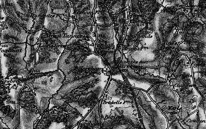 Old map of Horam in 1895