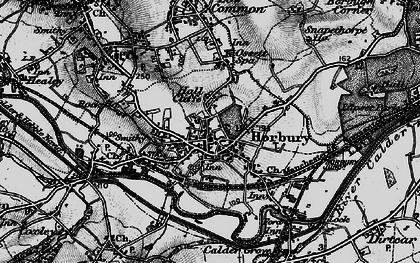 Old map of Horbury in 1896