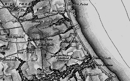 Old map of Yoden Village in 1898
