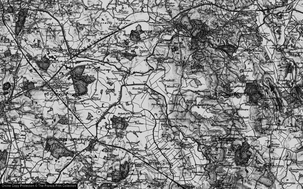 Old Map of Hordley, 1897 in 1897