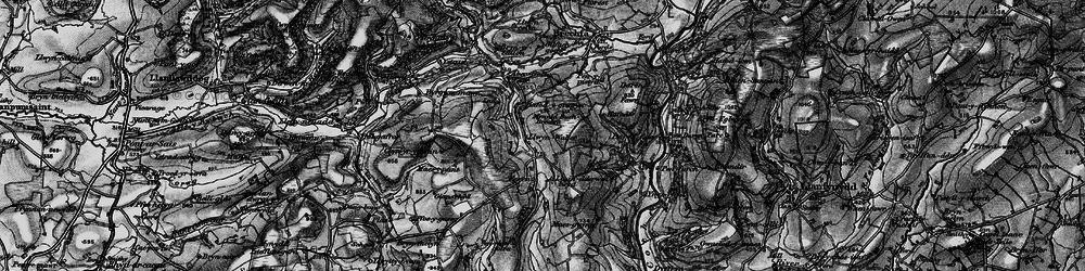 Old map of Aber-Goleu in 1898