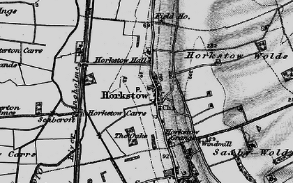 Old map of Winterton Carrs in 1895