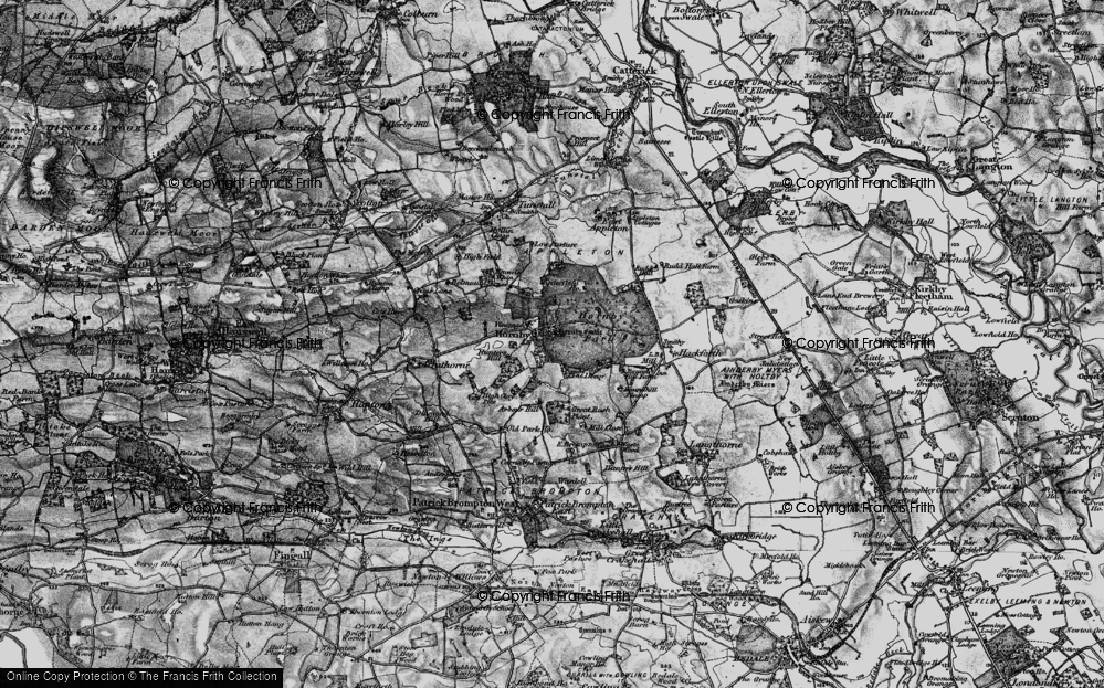 Old Map of Historic Map covering Abour Hill in 1897