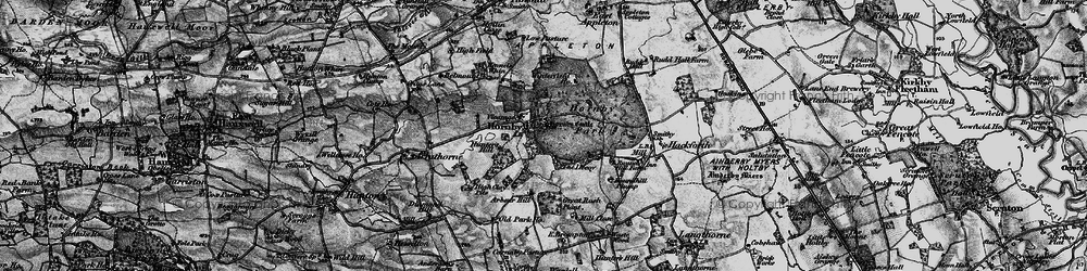 Old map of Hornby in 1897