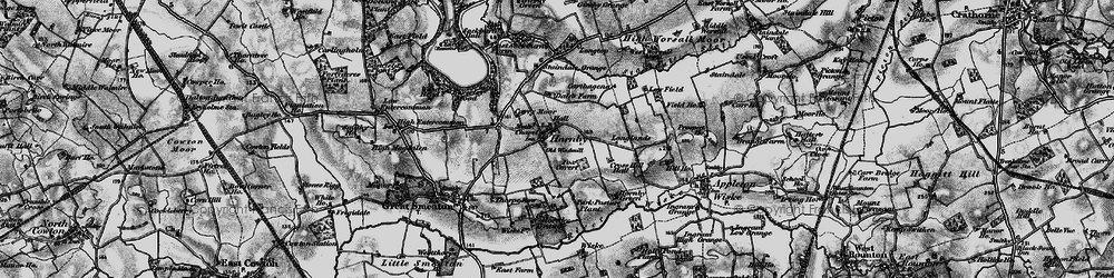 Old map of West Worsall in 1898