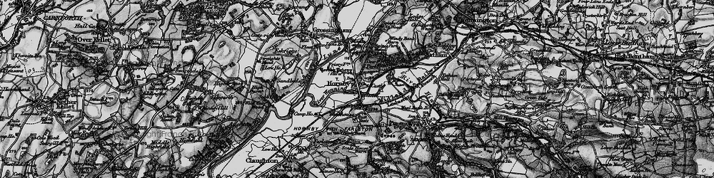 Old map of Hornby in 1898