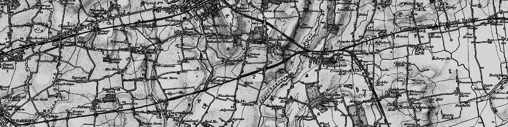 Old map of Hornchurch in 1896