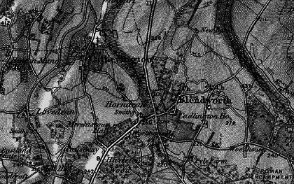 Old map of Horndean in 1895