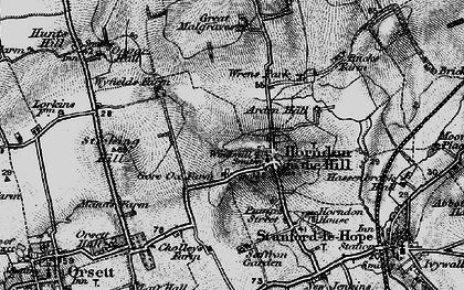 Old map of Horndon on the Hill in 1896