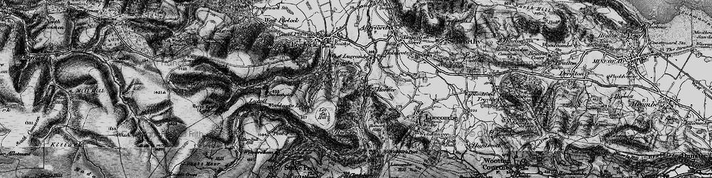 Old map of Horner in 1898