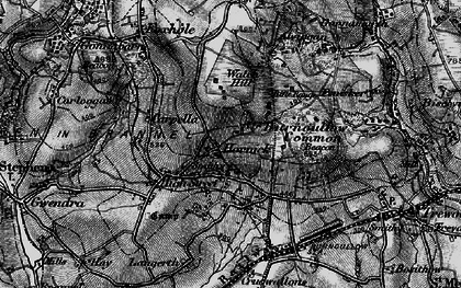 Old map of Hornick in 1895