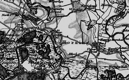 Old map of Horning in 1898