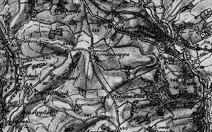 Old map of Horningtops in 1896