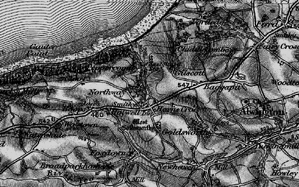 Old map of Horns Cross in 1895