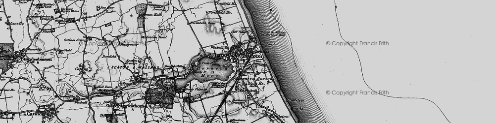 Old map of Hornsea in 1897
