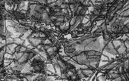Old map of Horrabridge in 1898