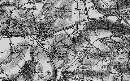 Old map of Horsedowns in 1896
