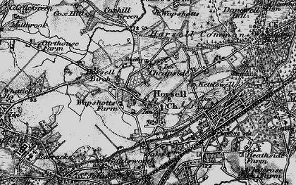 Old map of Horsell in 1896