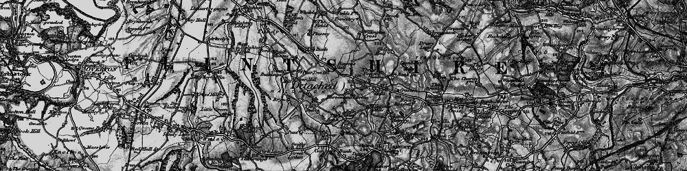 Old map of Willington Cross in 1897