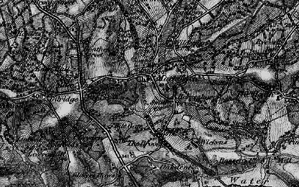 Old map of Wickens in 1895