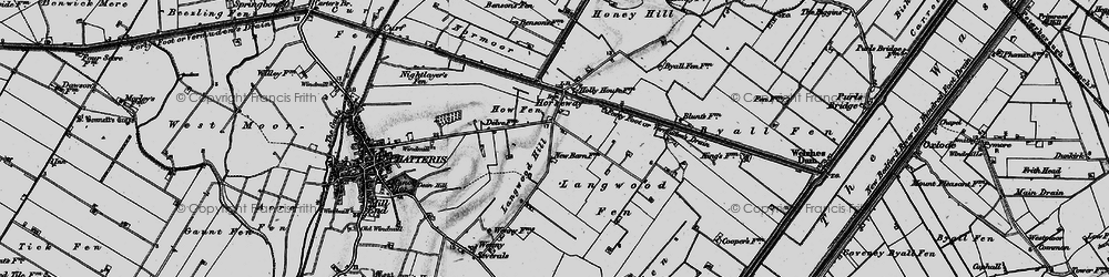 Old map of Langwood Hill in 1898