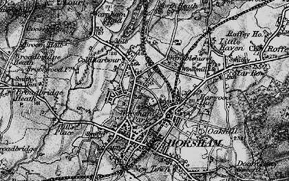 Old map of Horsham in 1895