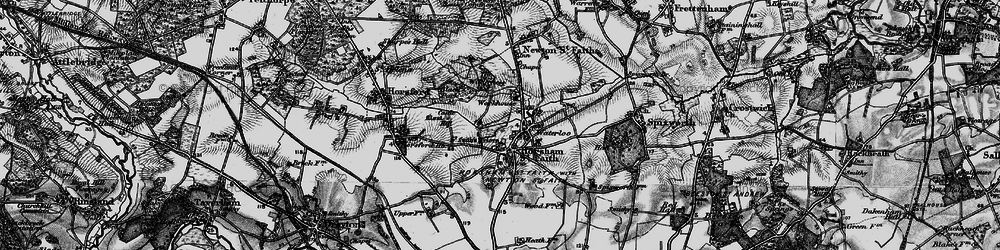 Old map of Horsham St Faith in 1898
