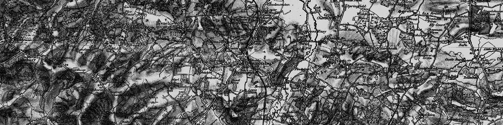 Old map of Horsmonden in 1895