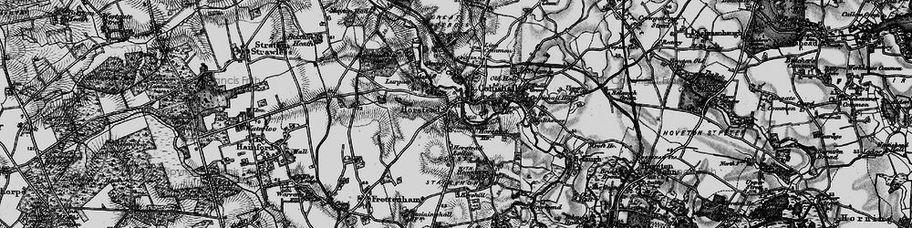Old map of Horstead in 1898