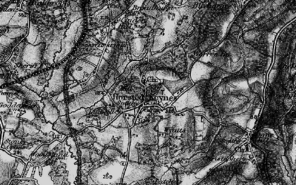 Old map of Wyatts in 1895