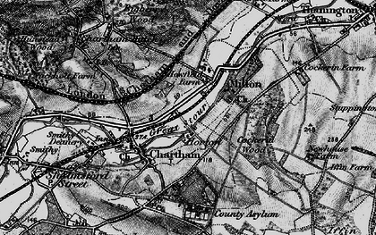 Old map of Larkey Valley Wood in 1895