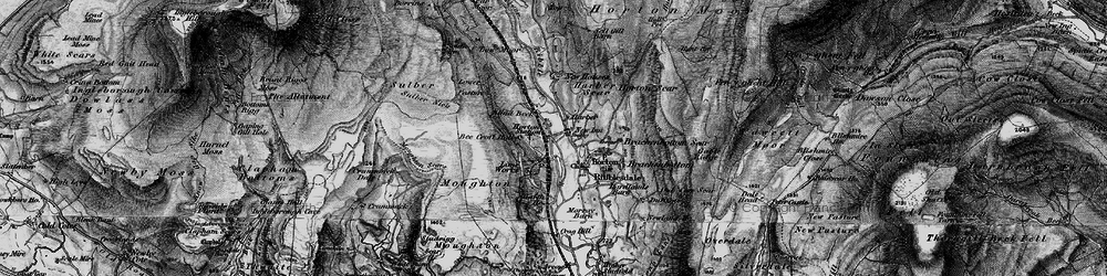 Old map of Horton in Ribblesdale in 1898