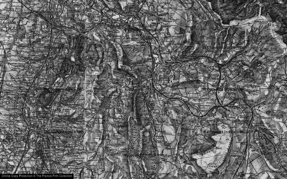 Old Map of Historic Map covering Toddbrook Resr in 1896