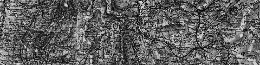 Old map of Whaley Moor in 1896