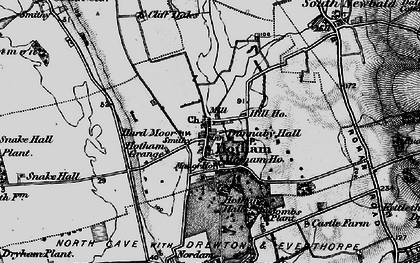 Old map of Hotham in 1898