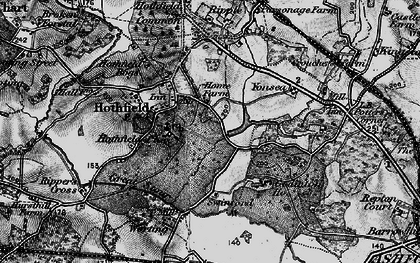 Old map of Hothfield in 1895