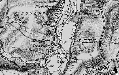 Old map of Houghton in 1895