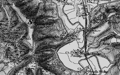 Old map of Whiteways Lodge in 1895