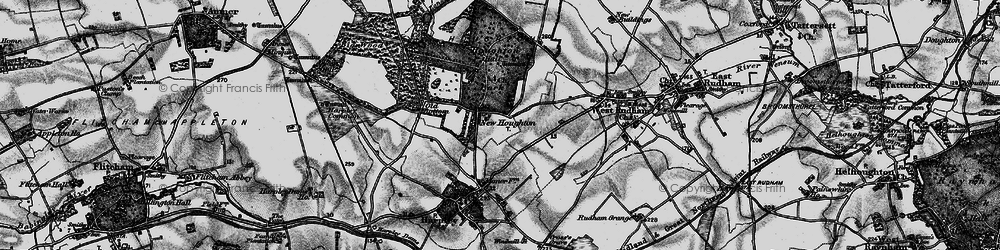 Old map of Houghton in 1898