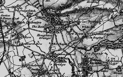 Old map of Houghton-Le-Spring in 1898