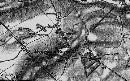 Old map of Houghton Regis in 1896
