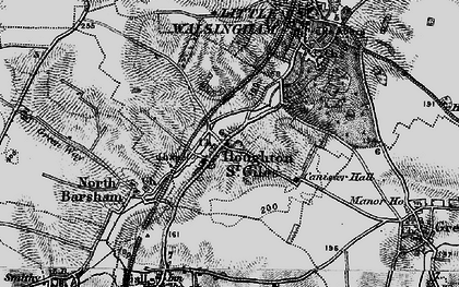 Old map of Houghton St Giles in 1899