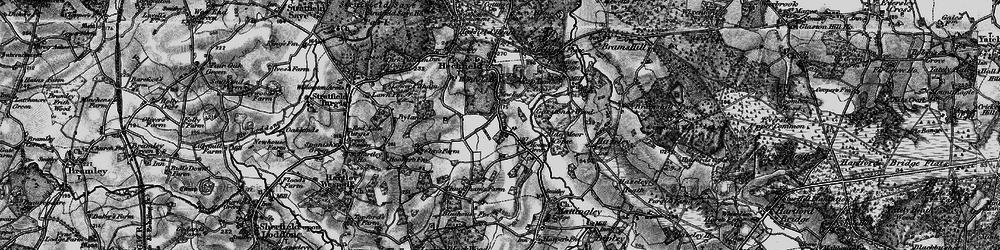 Old map of Alder Moor Copse in 1895