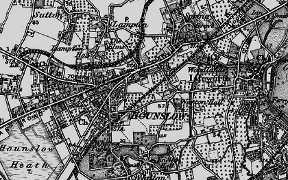 Old map of Hounslow in 1896