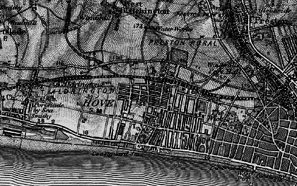 Old map of Hove in 1895